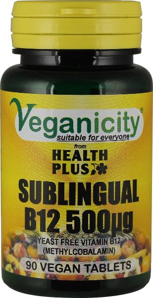 Vitamina B12 500 ug - Metilcobalamina sublingual