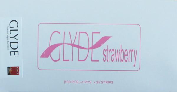 Preservativos morango Glyde (100 unid.)