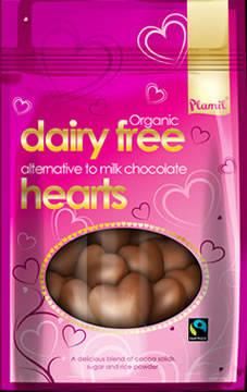 Corações de chocolate orgânico de comércio justo 125g - sem glúten