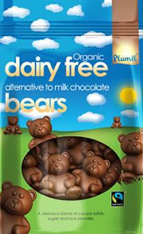 Ursinhos de chocolate orgânico de comércio justo 125g - sem glúten