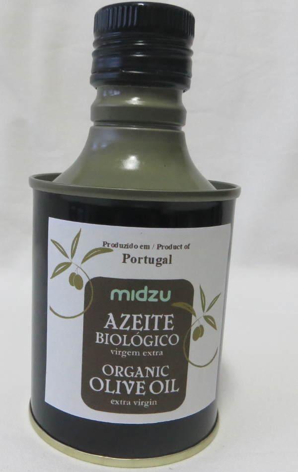 Azeite de oliva orgânico virgem extra Midzu 250ml (lata)