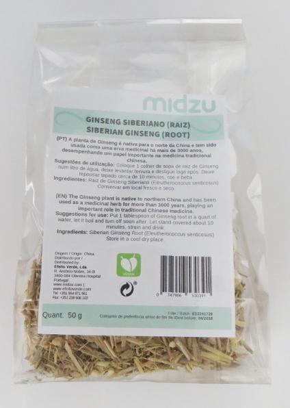 Ginseng Siberiano (raiz) Midzu 50 g