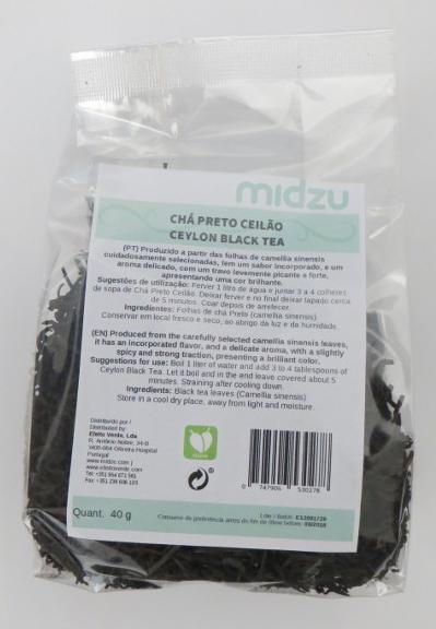 Chá Preto Ceilão Midzu 100 g