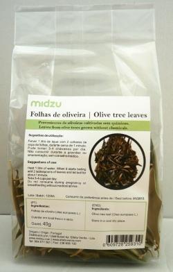Folhas de oliveira Midzu 40g