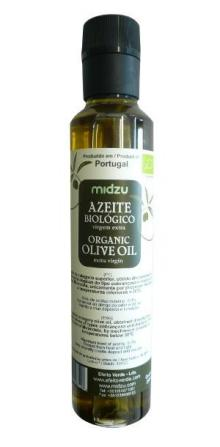Azeite de oliva orgânico virgem extra Midzu 250ml (garrafa plástico)