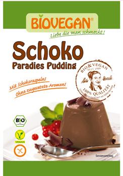 Pudim de chocolate orgânico - sem glúten